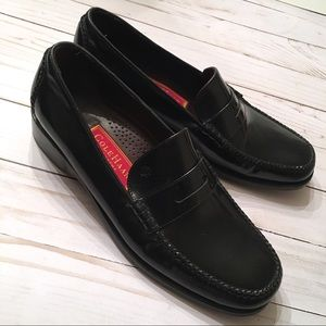 Cole Haan Black Leather Flats Loafers Shoes